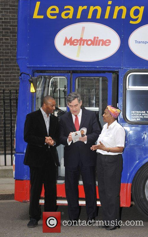 Colin Jackson and Prime Minister Gordon Brown 2