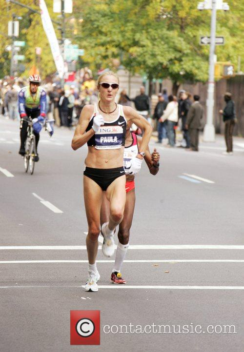 Paula Radcliffe of Great Britain, running in the...