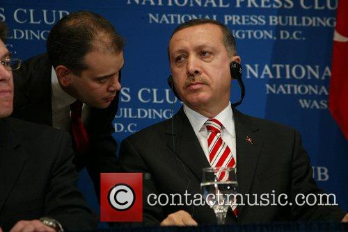 Turkish Prime Minister Recep Tayyip Erdogan speaks at...
