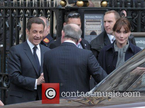 French President Nicolas Sarkozy and his wife Carla...