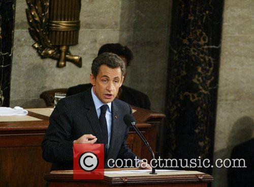French President Nicolas Sarkozy addresses a joint session...