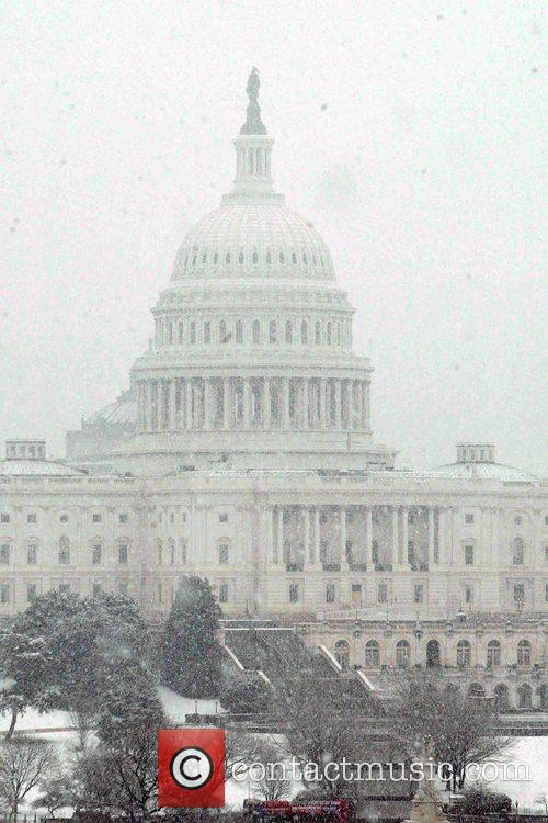 Winter storm moves up East coast. Steady snow...