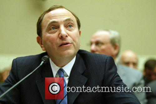 National Hockey League Commissioner Gary Bettman testifying before...