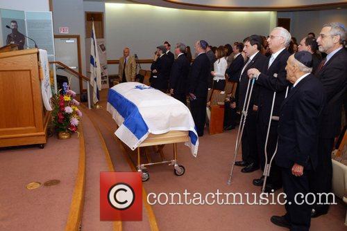 Post exhumation ceremony preceding return of Stephen Norman...