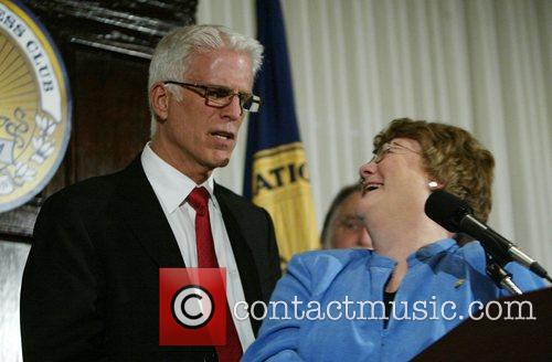 Ted Danson and Sylvia Smith, President of the...