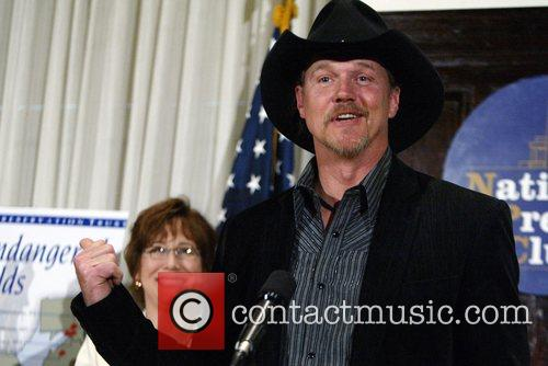 Country music star Trace Adkins spoke at the...
