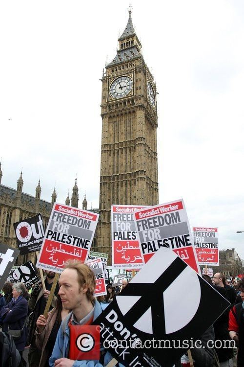 Stop The War Protest in Trafalgar Square