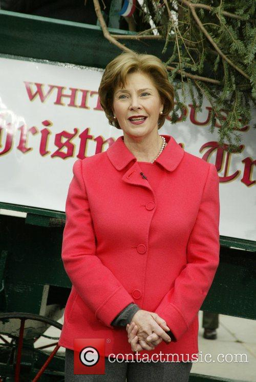 First Lady Laura Bush The White House Blue...