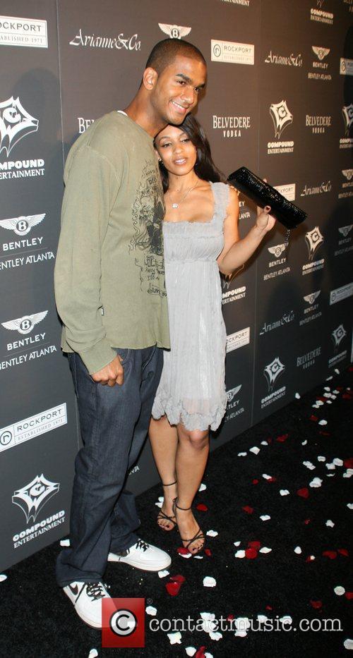 Jared Carter and Melissa Ford Ne-Yo celebrates his...