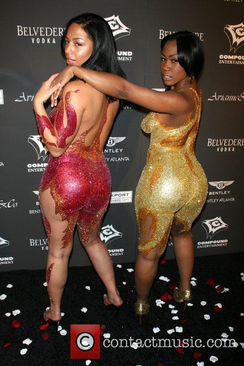 Sandra Conti and Jazzy Bell Ne-Yo celebrates his...