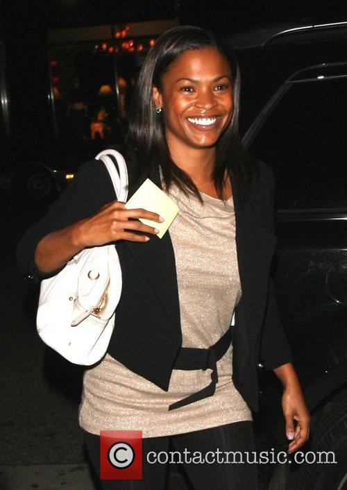 Nia Long going into Mr .Chow Los Angeles,...