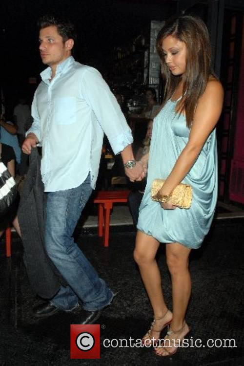 Vanessa Minnillo and Nick Lachey out and about...