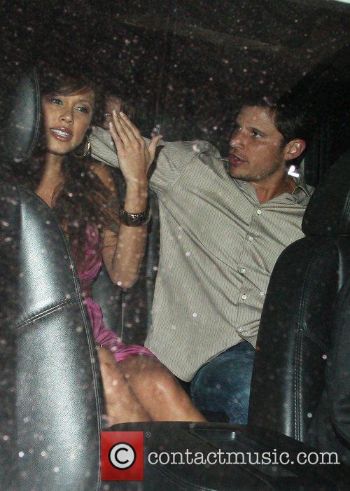 Nick Lachey and Vanessa Minnillo leaving Foxtail club...