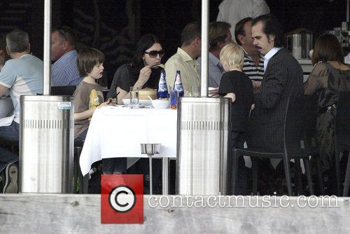 Nick Cave goes for lunch with his wife...