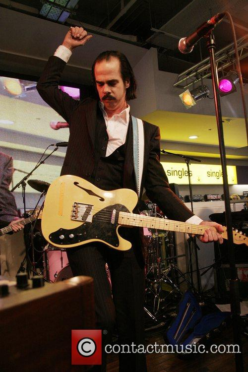 Nick Cave & The Bad Seeds performing live...