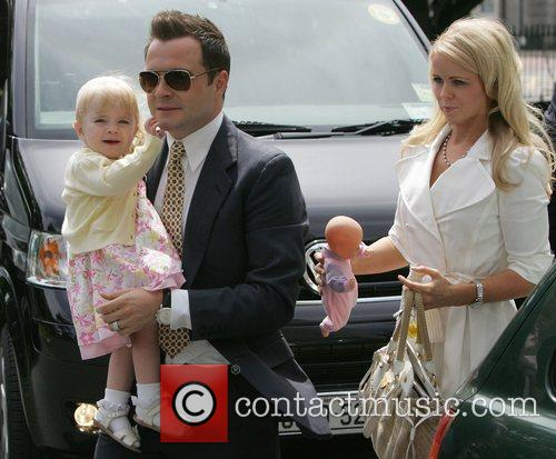 Shane Filan with daughter Nicole and wife Gillian...
