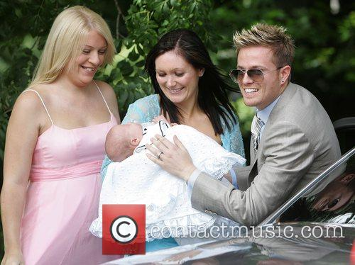 Gillian Byrne at the christening of Nicky Byrne...