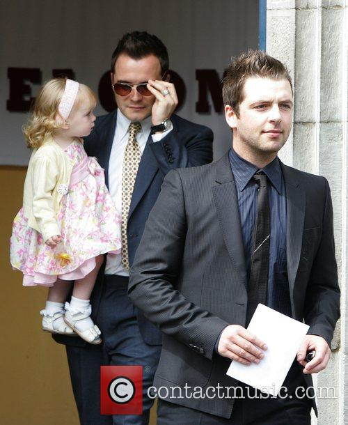 Shane Filan and daughter Nicole with Mark Feehily...
