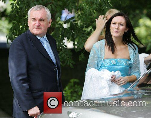 Irish Taoiseach, Bertie Ahern and Georgina Byrne at...