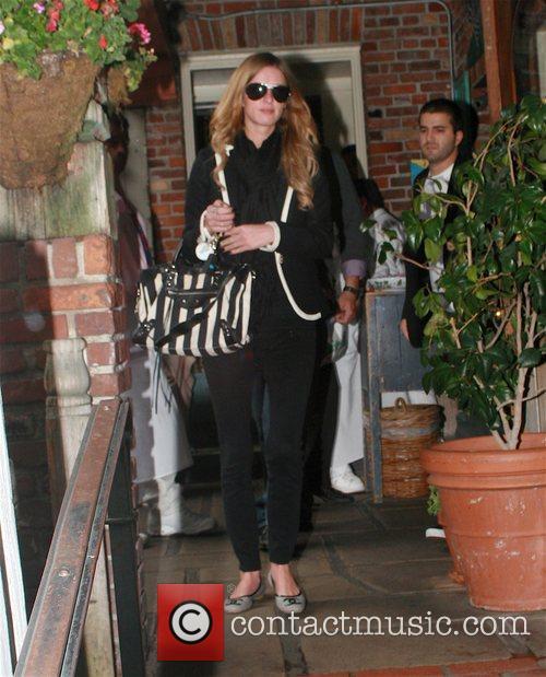 Nicky Hilton and her boyfriend David Katzenberg leaving...