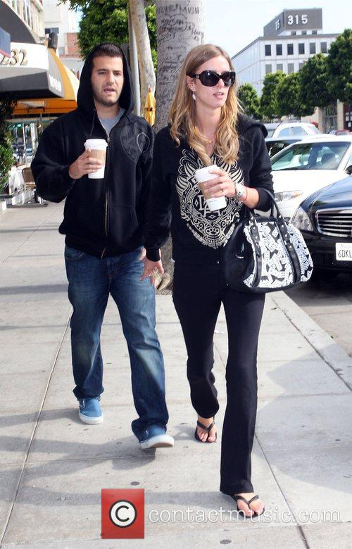 Nicky Hilton  taking a romantic stroll through...