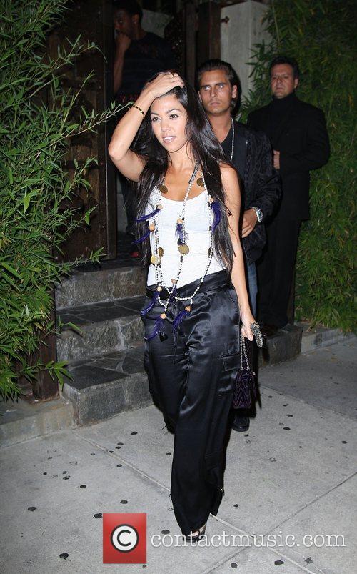 Kourtney Kardashian Celebrities leaving Koi restaurant Los Angeles,...