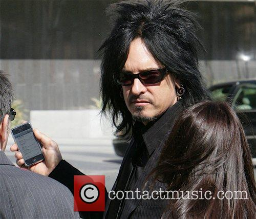 Nicky Sixx leaving the Los Angeles Superior Court...