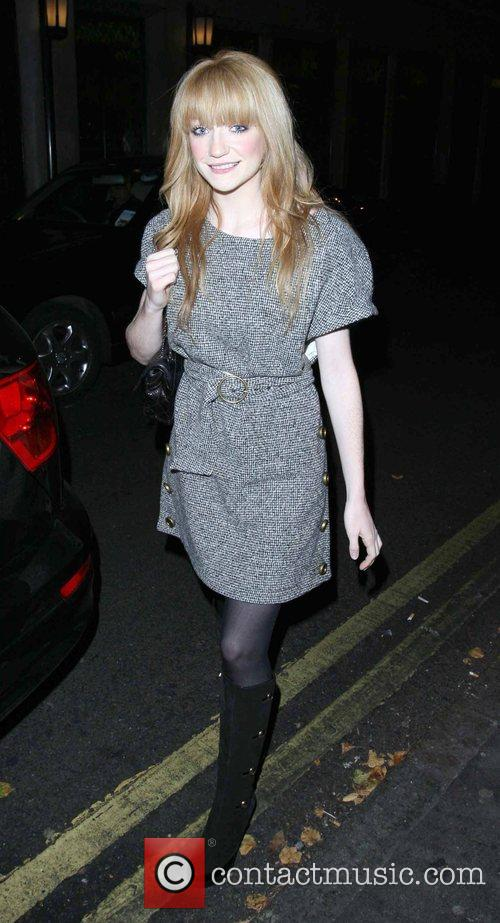 Nicola Roberts  leaving the Ivy restaurant after...