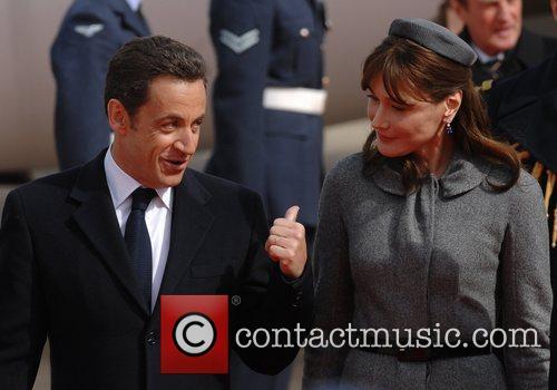 French president Nicolas Sarkozy Arrives at Heathrow Airport...