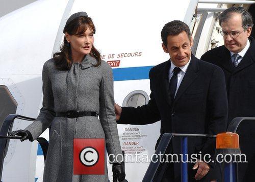 French president Nicolas Sarkozy and Carla Bruni Arriving...