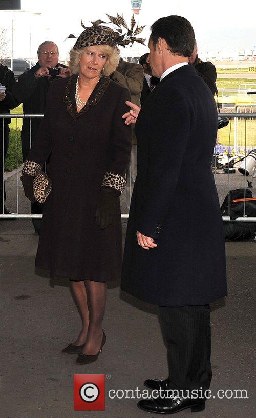 French president Nicolas Sarkozy and Camilla, Duchess of...