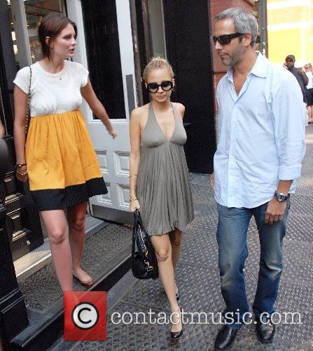 Nicole Richie and Mischa Barton leave their hotel...