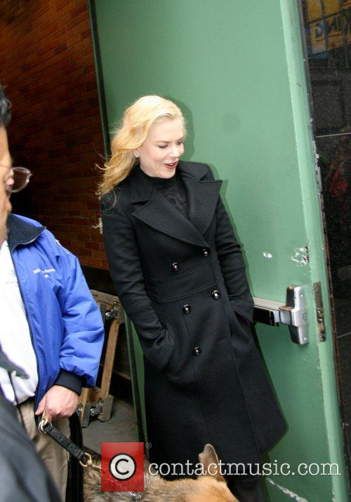 Nicole Kidman leaving ABC Studios after her appearance...