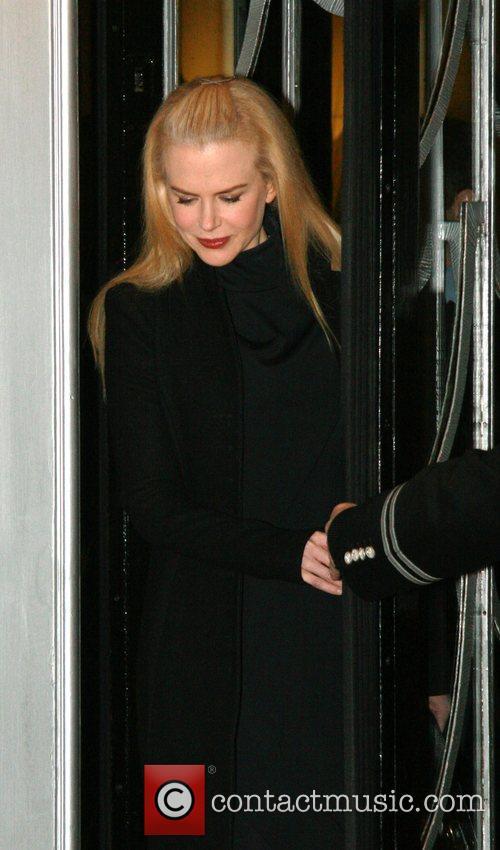 Nicole Kidman leaving her London hotel. Nicole is...