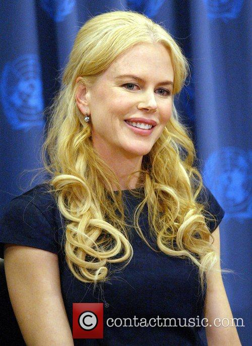 Nicole Kidman at a UNIFEM press conference at...