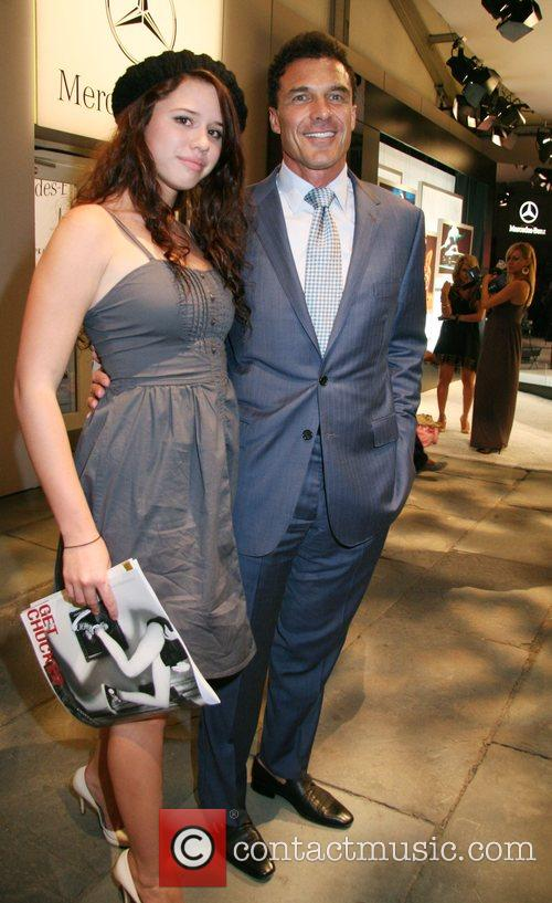Andre Balzac and daughter Mercedes-Benz Fashion Week New...