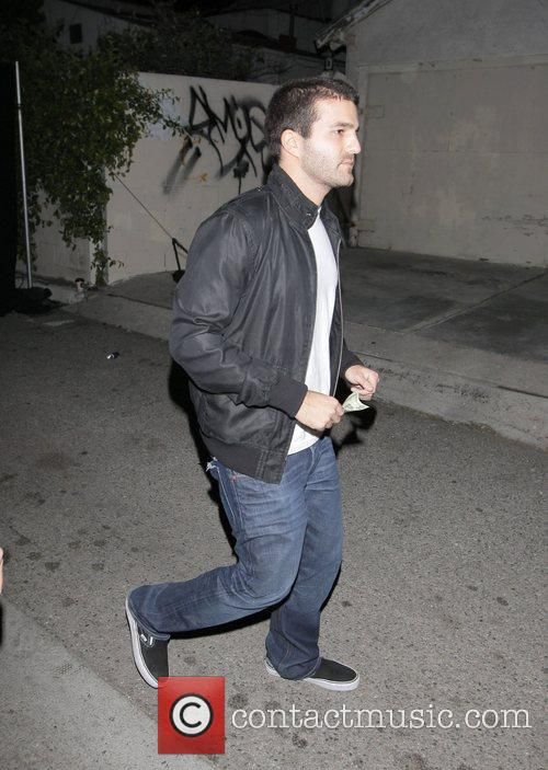 David Katzenberg leaving the opening party for Nicole...