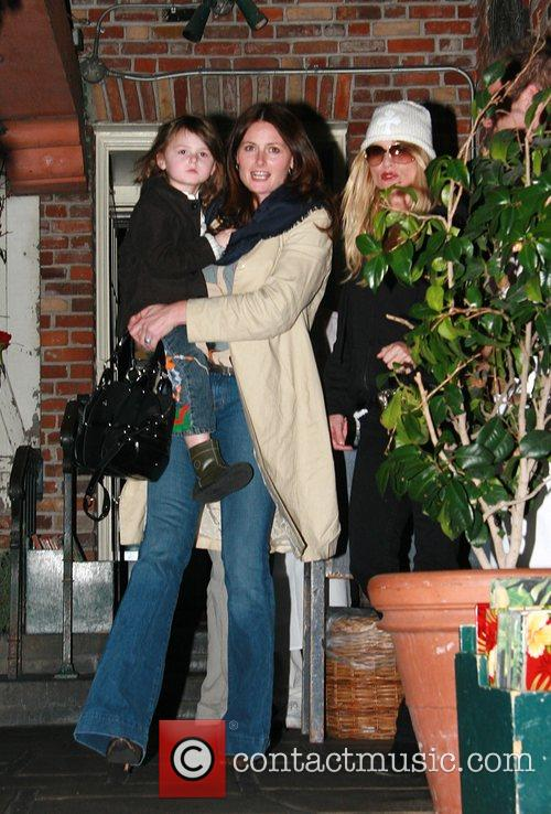 Nicolette Sheridan  leaving The Ivy restaurant after...