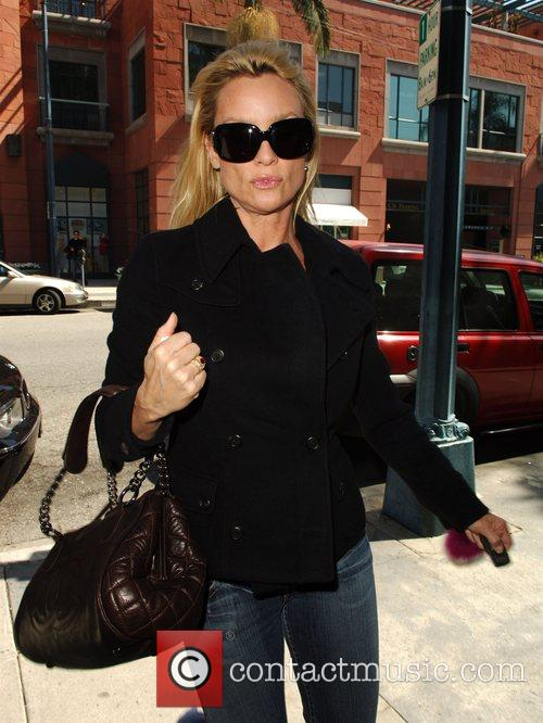 Nicolette Sheridan arriving at a medical centre