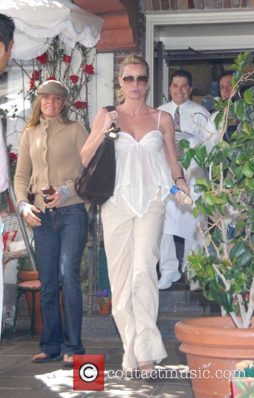 Nicollette Sheridan leaving the Ivy restaurant Los Angeles,...