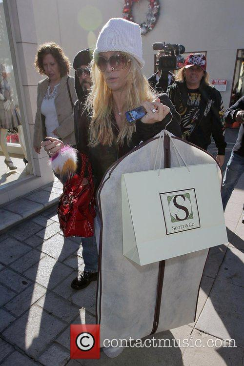 Nicollette Sheridan leaving Scott & Co at Sunset...