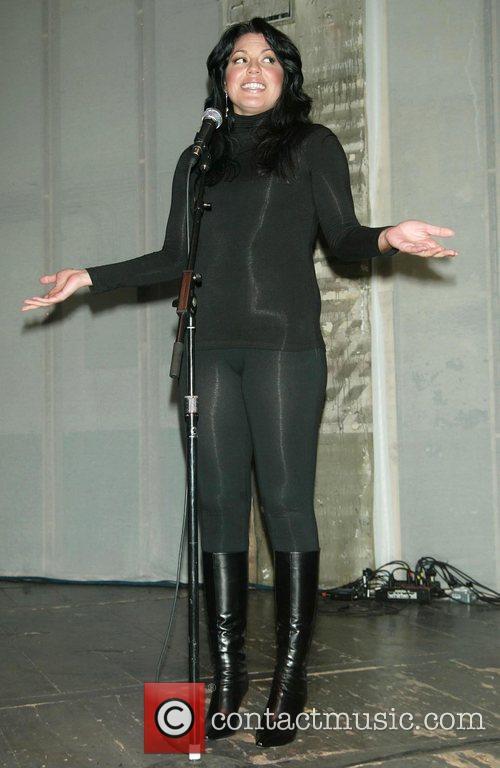 Sara Ramirez on stage prior to the late-night...