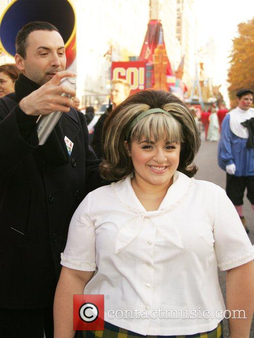 The 'Hairspray' star getting her hair ready for...