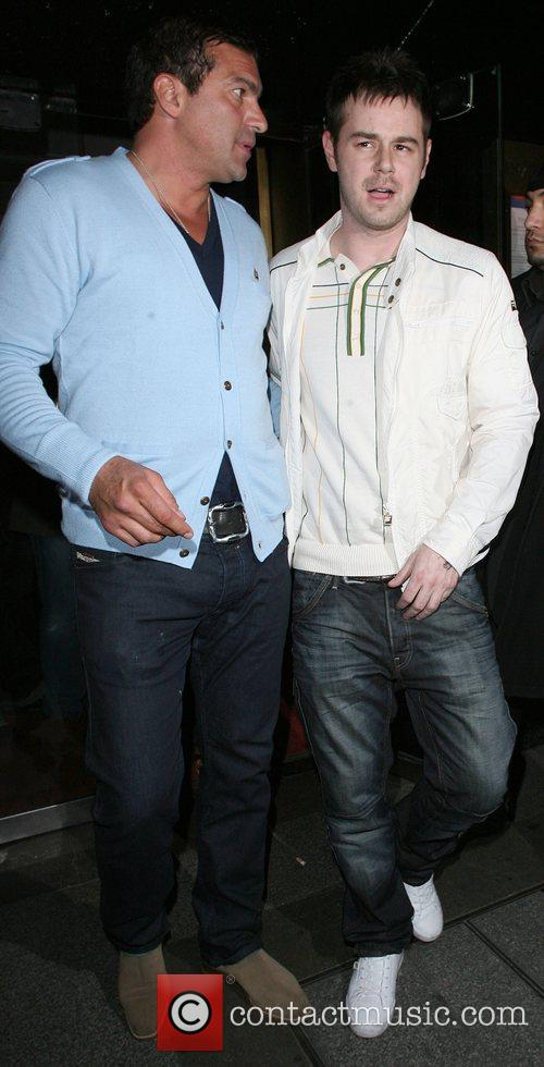 Tamer Hassan and Danny Dyer leaving the Embassy...