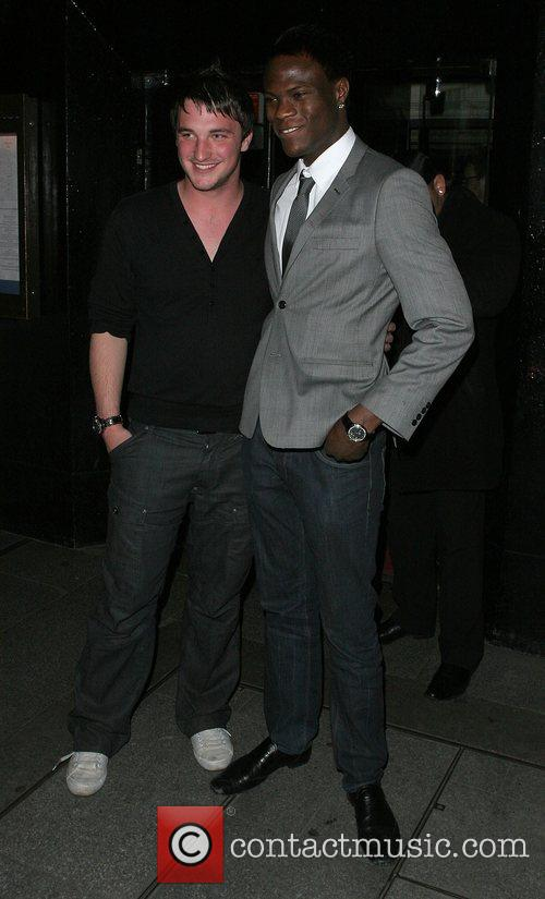 Liam McGough and Brian Belo leaving the Embassy...