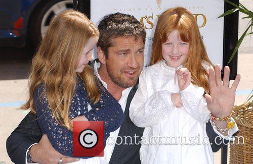 Gerard Butler with his nieces The World Premiere...