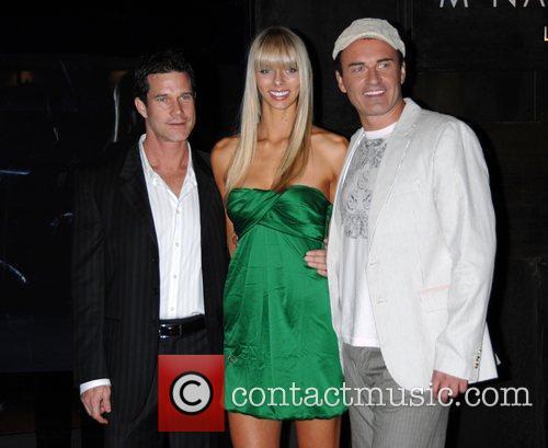 Dylan Walsh, Taylor Erickson and Julian McMahon Celebrating...