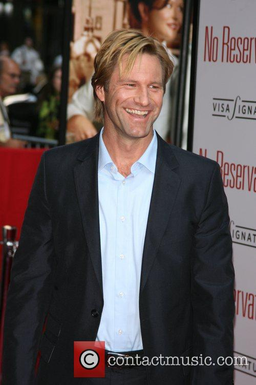 Aaron Eckhart New York Premiere of 'No Reservations'...