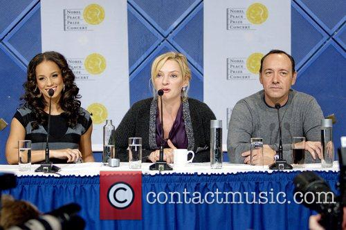 Alicia Keys, Kevin Spacey and Uma Thurman 2