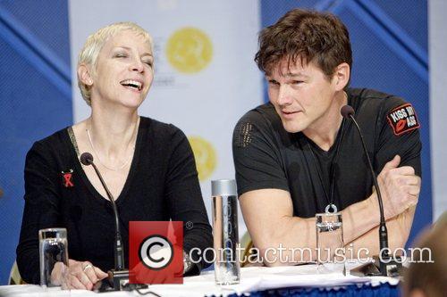 Annie Lennox and Morten Harket.